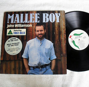 True Blue John Williamson - Mallee Boy Vinyl 1986 JG1 Blacktown Area Preview