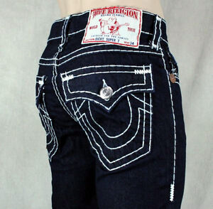 AUTHENTIC MENS TRUE RELIGION RICKY DENIM JEANS SIZE 34