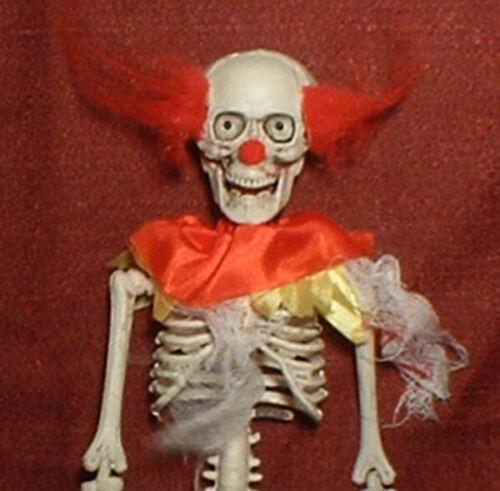 "HAUNTED Creepy Clown Skeleton doll ""EYES FOLLOW YOU"" Halloween prop"