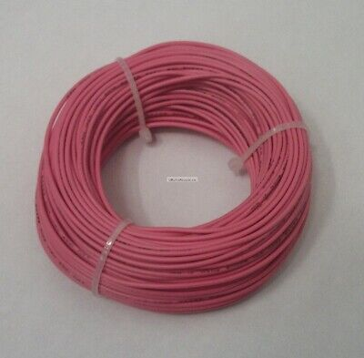 22 Awg Tinned Copper Stranded Hook Up Wire 100 Feet Pink Ul1007