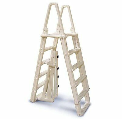 "Confer 7100B Evolution A-Frame Above Ground Swimming Pool Ladder 48"" to 54"""
