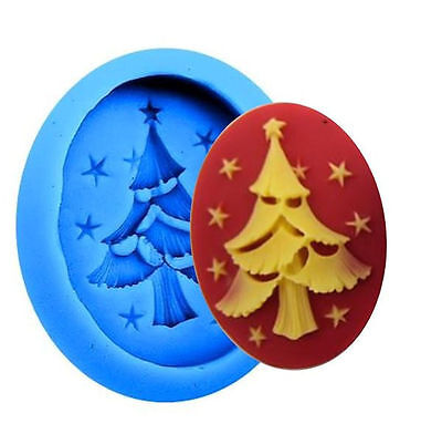 Christmas Tree with Stars Blue Silicone Mold for Fondant GP Chocolate Crafts](Christmas Chocolates)