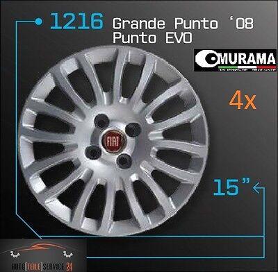 4 Original MURAMA 1216 Radkappen für 15 Zoll Felgen FIAT GRANDE PUNTO EVO 08 ROT online kaufen
