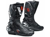 Sidi Vertigo Motorcycle Race Boots, Size 9 Black NEW BOXED
