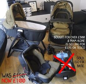 Graco Evo Travel System with carry cot stand