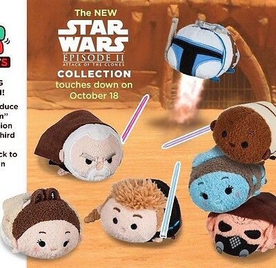 Disney USA Star Wars Episode II 2 Attack Of The Clones Tsum Tsum Set OF 7 NWT - Episode 7 Star Wars