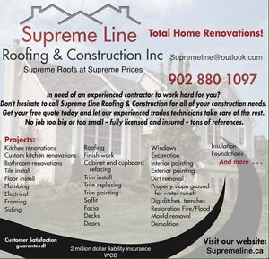 Supreme Line Roofing & Construction