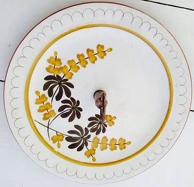 Vintage Retro Hand-Signed STANGL Pottery Server Plate with Handle
