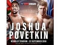 X3 Anthony Joshua vs Alexander Povetkin