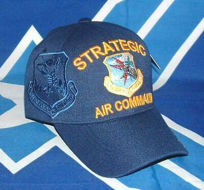 Strategic Air Command SAC Blue Embroidered Licensed Military Ball Cap/Hat. Command Military Hat
