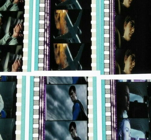 Superman Returns 2006 60 x 35mm Film Cell Cells 12 x Strip Movie Cinema Reel (b)