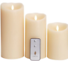 Luminara Flicker Flame Effect Candle - Full Set Of 3 - Ivory - Remote Control