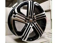 2017 NEW VW R400 ALLOY WHEELS LATEST X4 BOXED 5X112 GOLF MK5 MK6 MK7 CADDY VAN SCIROCCO