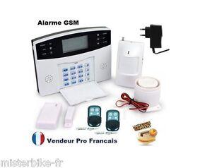 Kit alarme maison sans fil gsm sms auto appel anti vol 1 for Alarme maison iphone