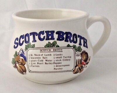 Vintage Scotch Broth Soup Mug with Recipe 3.25