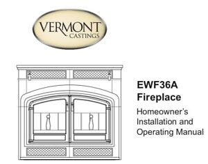 Vermont Castings Sequoia Wood burning Fireplace