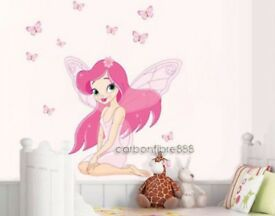 Princess and fairies wall stickers