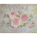 Vintage Rose Art Poster Print by Debi Coules, 14x11