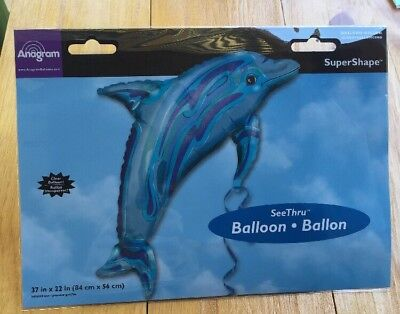 Anagram Foil Balloon Dolphin 37 In X 22 In New Party Sea Life](Dolphin Balloon)
