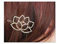 Lotus shape royal hair pin, cute hair clips, beautiful hair pin