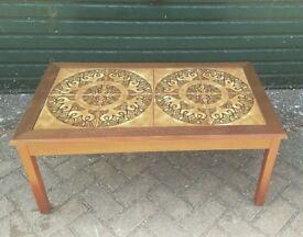 Vintage Danish solid teak coffee table mid century retro 60s 70s