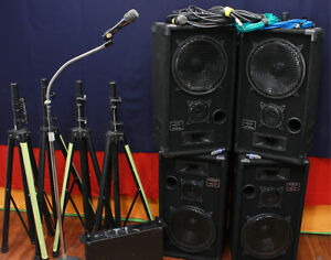4 Speaker PA System (No Mixer)