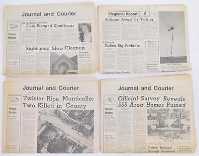 Three April 1974 newspapers reporting massive tornado damage in centr... Lot 344