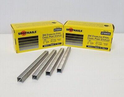 Upholstery Staples Stainless Steel 38 Crown 38 Leg Spotnail 87006