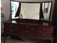 Ercol dark wood dressing table.