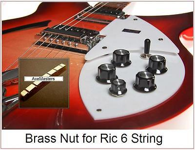 AxeMasters Slotted BRASS NUT made for Rickenbacker Ric 660 12 String Guitar