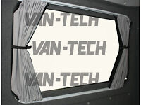 VW T5 Van Transporter Blackout Interior Curtain Behind The Driver