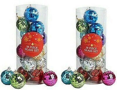 36 Multi color Mirror Disco Ball Ornaments 1.75