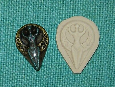 Moon Goddess Polymer Clay Push Mold 4 Pendant Charm DIY Jewelry Pagan Wicca # 4