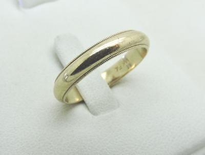 14k Yellow Gold 4 mm Traditional Wedding Band Ring 4 Grams Size 9 4mm Traditional Wedding Band Ring