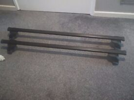 Roof Bars to fit Vauxhall Astra made by Thrule with Footpack