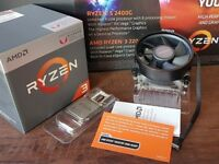 AMD Ryzen 3 2200G APU 3.5/3.7Ghz with onboard Vega GFX and Wraith Stealth Cooler (Used)