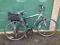 "Gary Fisher ""Zebrano"" bike 20"" frame , 24 gears, saddlebag and lock"