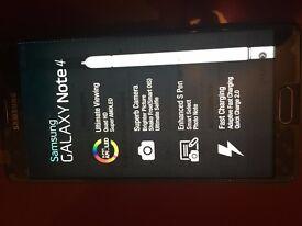 As NEW - Samsung Galaxy Note 4 - 32 GB - black - Unlocked + 8gb card + Leather Case