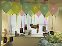 Decorate ur place on ur birthday/ anniversary