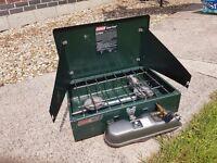 Coleman Dual Fuel Camping Cooker, twin burner.