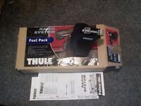THRULE FOOTPACK 750 and FITTING KIT 1192 FOR ROOF BARS