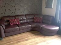large dfs corner sofa and swivel chair mint condition