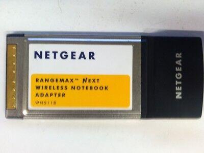 NetGear WN511B Rangemax Next Wireless Notebook Adapter 3.3V PCMCIA Laptop Card ()