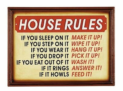 Ram R818 Wooden House Rules Pub Sign 3D Art w/ FREE Shipping