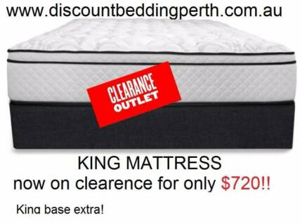 BOXING DAY SALE! KING LUXURY POCKET SPRINGS MATTRESS WA MADE NEW!