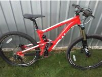 Mountain bike excellent condition quality bicycle 15.5 frame full suspension mtb fox parts