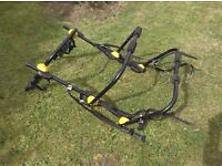 High mount car bicycle rack ideal for 4x4 or suv will carry two bikes