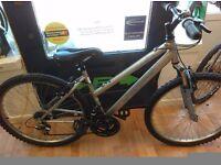Apollo XC26 ladies bike alloy frame, good comfort seat, grip shift 18 speed gears bicycle