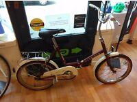 "20"" Wheel Folding bike Wafarer good tyres, single speed bike bicycle working fine"