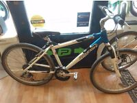 """Raleigh mtb blue white ride300 17"""" mountain bike small bicycle working order great cycle"""